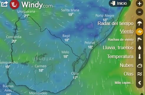 Estado del tiempo en Uruguay y el Mundo