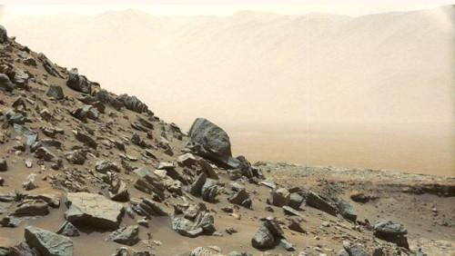 Curiosity sufrió una tormenta de polvo.