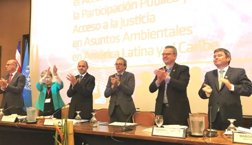 Ratificación de un histórico tratado ambiental en América Latina y el Caribe.