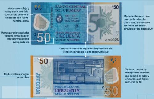 El Banco Central presentó billete de $50 confeccionado en polímero