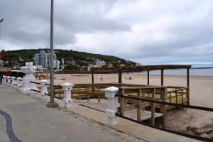 Presentan las obras ejecutadas en la Playa Accesible de Piriápolis