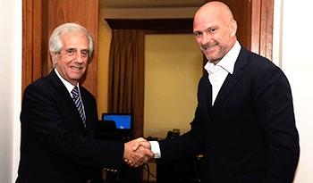 Presidente Tabaré Vázquez se reunió con el empresario italiano Giuseppe Cipriani