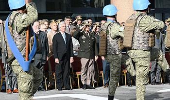Presidente Vázquez encabezó el acto por el 208° aniversario del Ejército Nacional