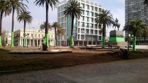 La plaza independencia será mañana y pasado set de una serie
