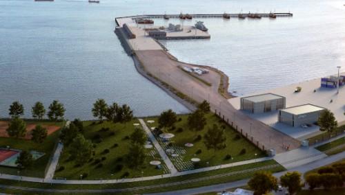 En Capurro comienza construcción de puerto pesquero.