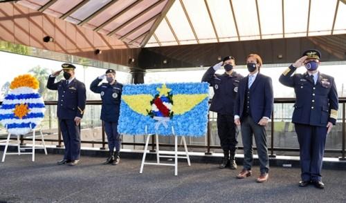 Presidente Lacalle Pou encabezó acto por el Día de los Mártires de la Aviación Militar