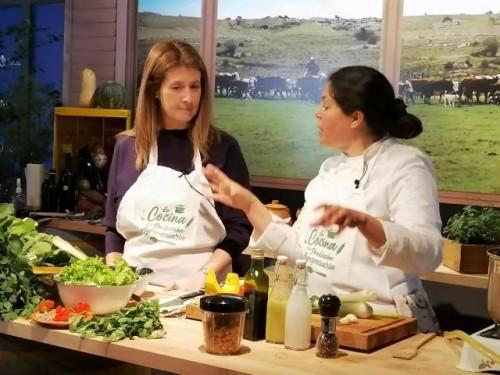 Fernanda Maldonado cocinó junto a la chef Laura Rosano
