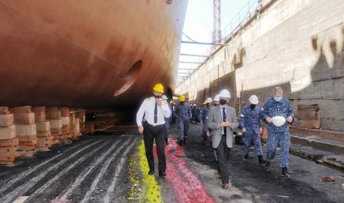 """Armada Nacional moderniza sistema de propulsión del buque ROU 04 """"General Artigas"""""""