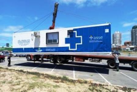 IDM colabora con la habilitación de un contenedor para hisopados gratuitos en Punta del Este