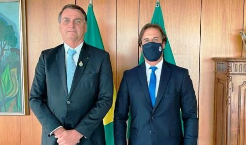 Lacalle Pou y Bolsonaro analizaron la posibilidad de flexibilizar el comercio con países fuera del Mercosur