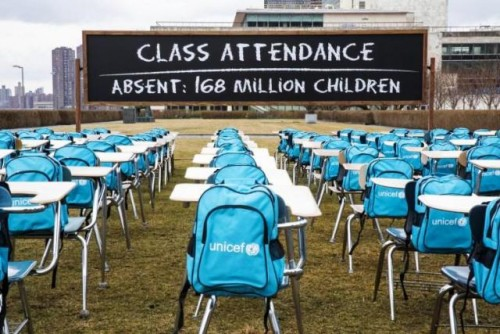 Las escuelas de más de 168 millones de niños del mundo llevan casi un año entero cerradas por completo debido a la COVID-19