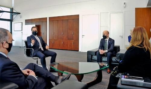 Presidente Lacalle Pou recibió a delegación del Gobierno de Estados Unidos