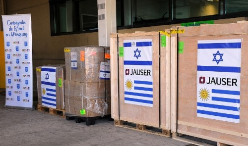 Uruguay recibió donación israelí de equipamiento de última generación para reforzar tratamientos contra COVID-19