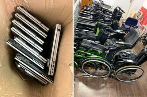 Encuentran materiales para personas con discapacidad donados en 2018